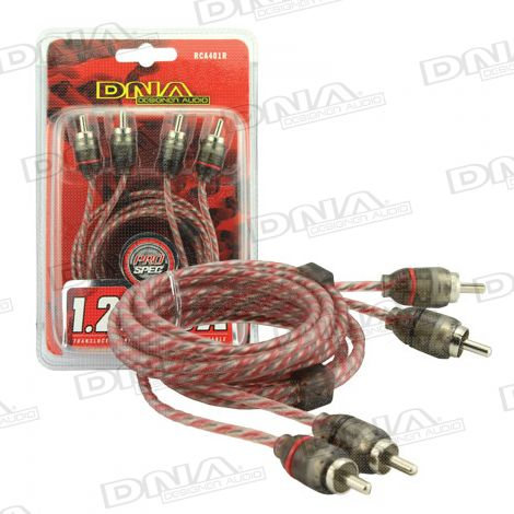1.2 Metre 2 To 2 RCA Pro Spec Cable - Red