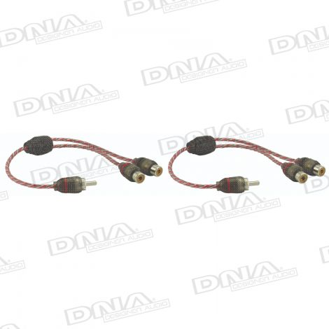 Bulk 1 Male RCA to 2 female RCA Y split Pro Spec interconnect audio cable