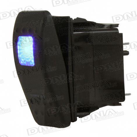 Rocker Switch On/Off - Blue LED