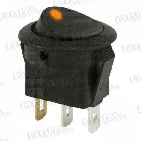 Rocker Switch On/Off - Amber LED