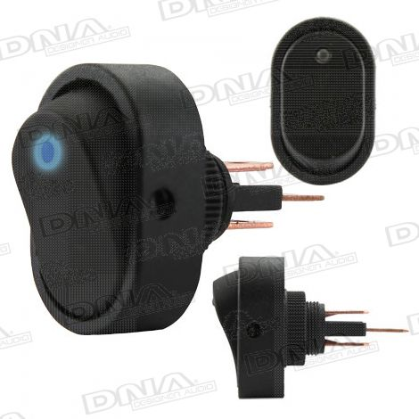 Rocker Switch On/Off - Blue LED