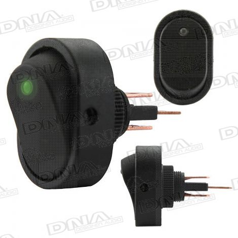Rocker Switch On/Off - Green LED