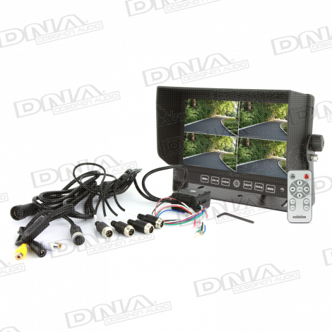 7 Inch LCD 4 Channel Quad Rearview Screen