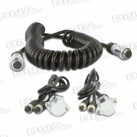 Heavy Duty WOZA Trailer Cable Kit For Two Cameras