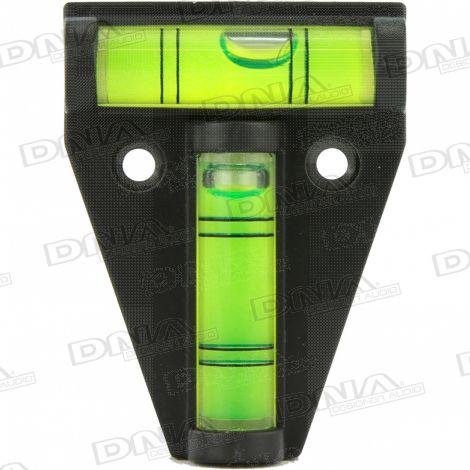T Type 2 Way Mini Spirit Level Tool - Black