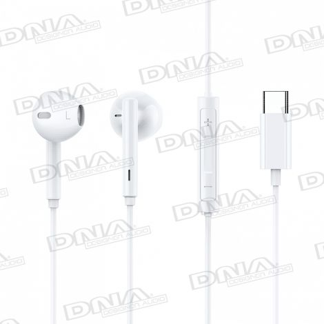 Type-C Direct Digital In-Ear Headphones With Built-in Volume Control And Microphone