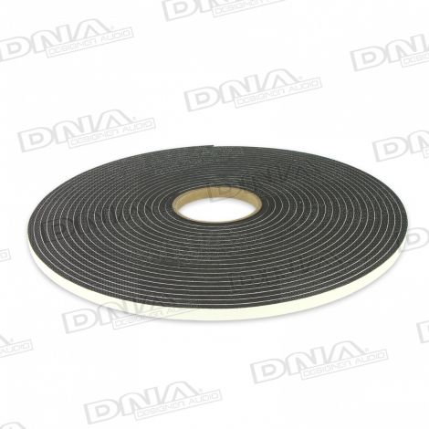 Single Sided Adhesive Foam Tape 10mm W x 6.4mm - 15.2 Mtr