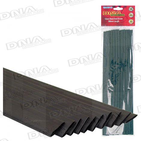 Heatshrink Black 12mm - 10 Pack