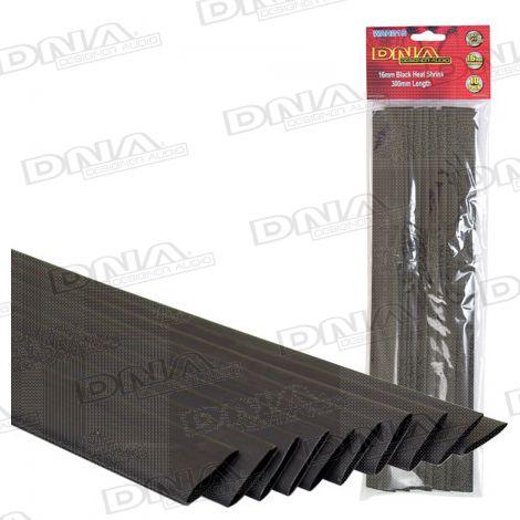 Heatshrink Black 16mm - 10 Pack