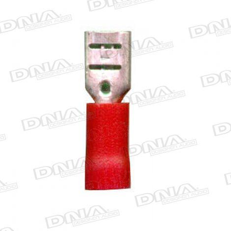 4.8mm Red Female Spade Crimp Terminals 100 Pack