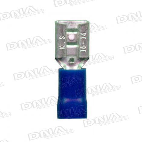 6mm Blue Female Spade Terminals 100 Pack
