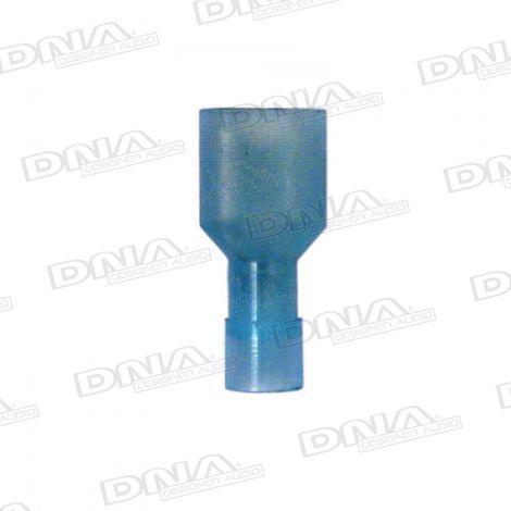 6.35mm Blue High Temperature Fully Insulated Female Crimp Terminals 100 Pack