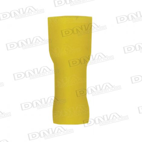6mm Yellow Fully Insulated Female Spade Crimp Terminals 100 Pack