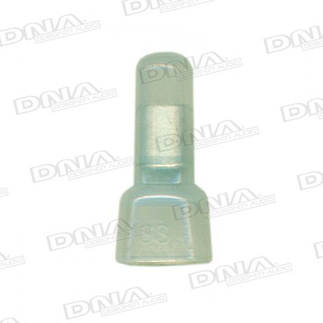 3.8mm Yellow Closed End Crimp Terminals 100 Pack
