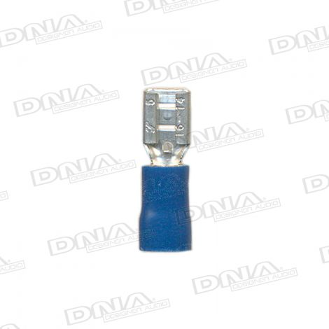 4.8mm Blue Female Uninsulated Spade Crimp Terminal 100 Pack