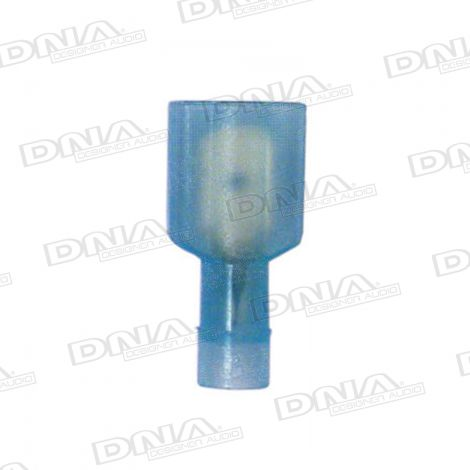 6.35mm Blue High Temperature Fully Insulated Male Crimp Terminals 100 Pack