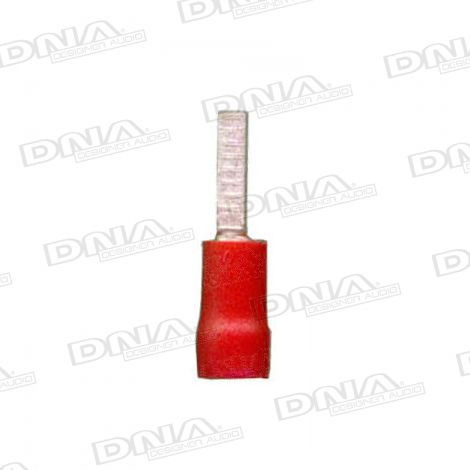2.3mm Red Male Spade Crimp Terminals 100 Pack