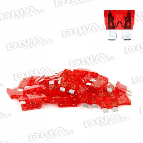 10 Amp Blade Fuse - 50 Pack
