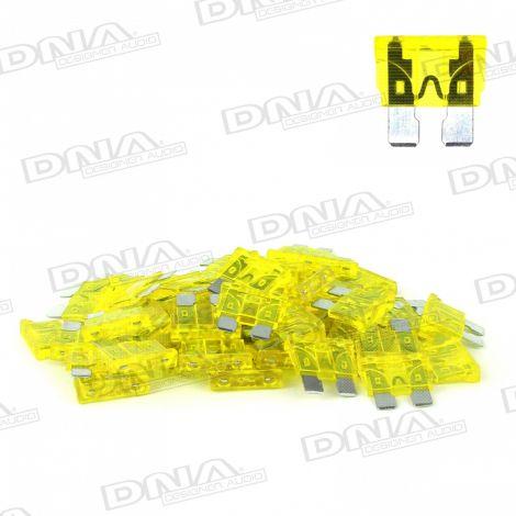 20 Amp Blade Fuse - 50 Pack