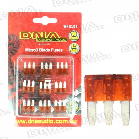 7.5 Amp Micro3 Fuse - 10 Pack