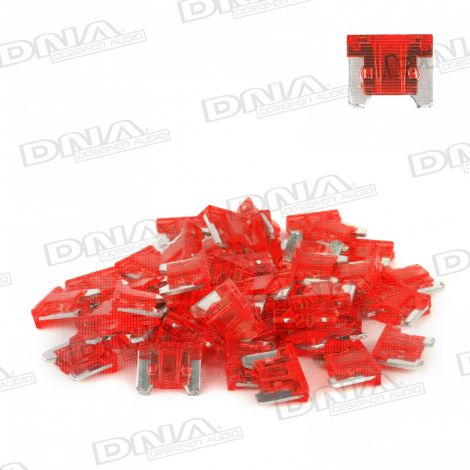 10 Amp Micro Blade Fuse - 50 Pack