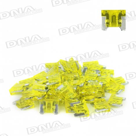 20 Amp Micro Blade Fuse - 50 Pack