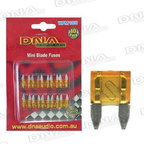 5 Amp Mini Blade Fuse - 10 Pack