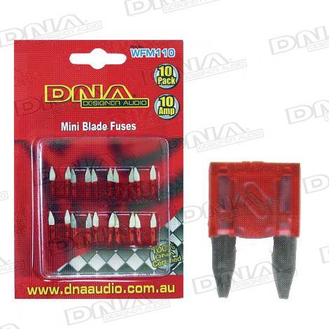 10 Amp Mini Blade Fuse - 10 Pack