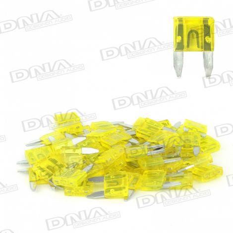 20 Amp Mini Blade Fuse - 50 Pack