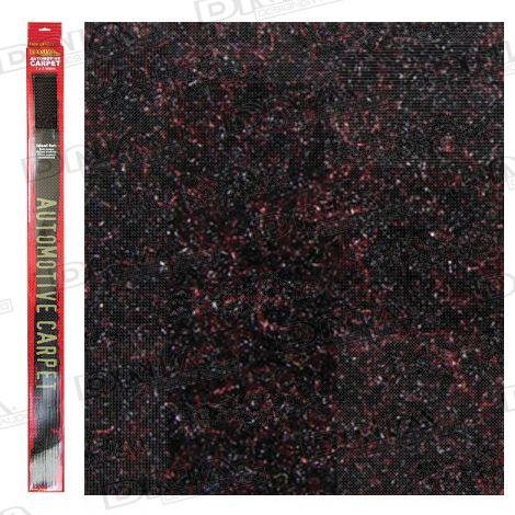 2 Metre x 1 Metre Speaker Carpet Black / Red