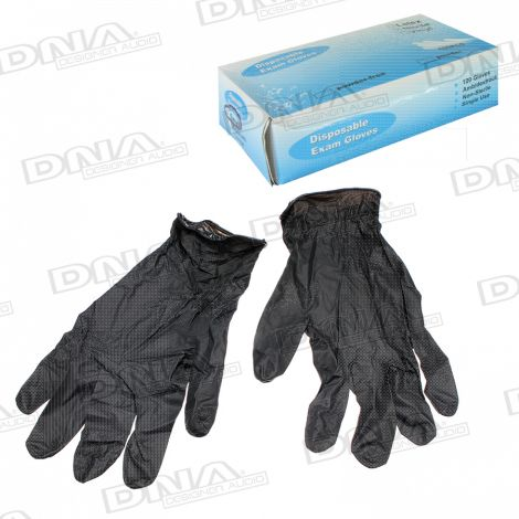Nitrile Gloves Black Large - 100 Pack / 50 Pairs