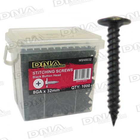 32mm Needle Point Screws Black - 1000 Pack