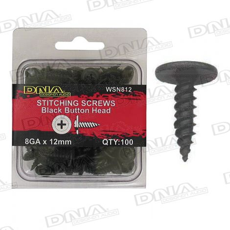 12mm Needle Point Screws Black - 100 Pack