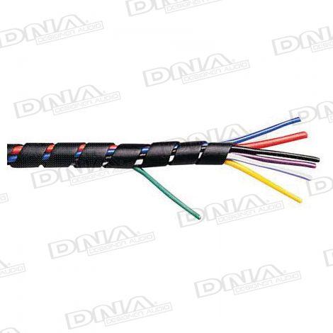 6mm Black Spiral Wrap - 10 Metres