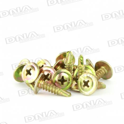 Gold 16mm Self Drilling Screw 8G - 100 Pack