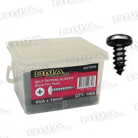 10mm Black Self Tapper Screws 8 Gauge - 1000 Pack