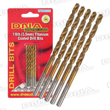 1/8th - 3.5mm Drill Bits - 5 Pack