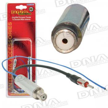 Amplified Female European Socket To Male Motorola Plug Antenna Adaptor
