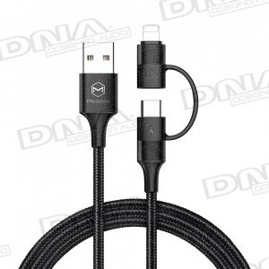 2-in-1 Lightning + Type-C Stackable to USB Lead – 1.2m