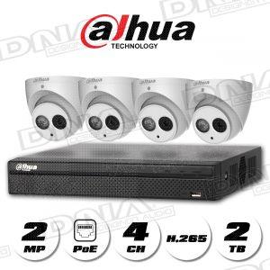 4k|H.265 4ch 4PoE NVR 2TB HDD & 2MP PoE Cameras