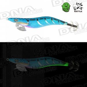 Clicks 3.0 Size Squid Lure Metal Blue Colour IM06 - Metal Blue With Rattle