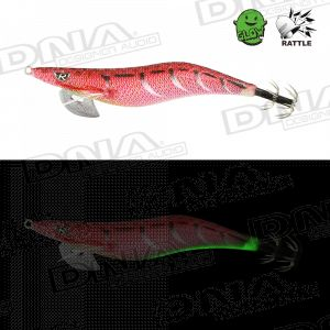 Clicks 3.0 Size Squid Lure Colour IM08 - Metal Red With Rattle