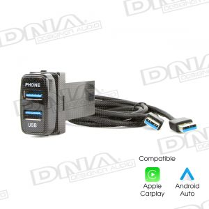 Dual Audio & Charge USB3.0 Sockets To Suit Switch Sockets In Mitsubishi Vehicles