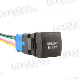 Small Square LED Momentary Switch To Suit Toyota - Auxiliary Battery