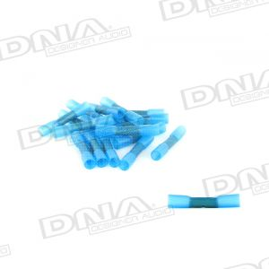 Blue Heat Shrinkable Glue Lined Butt Splice Crimp Joiner - 100 Pack